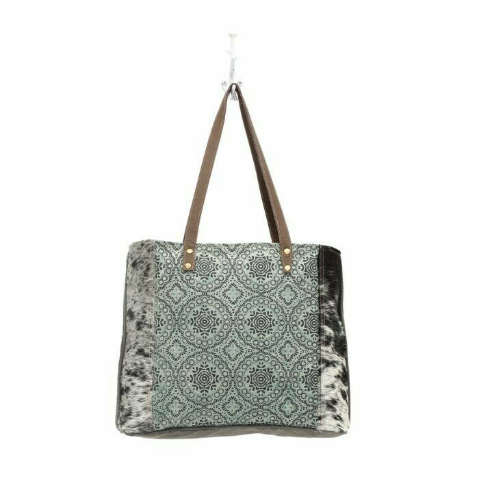 Myra Floral Chic Canvas Tote Bag NWT