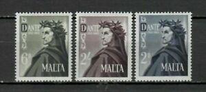 S33053 Malta 1965 MNH Dante Alighieri 3v