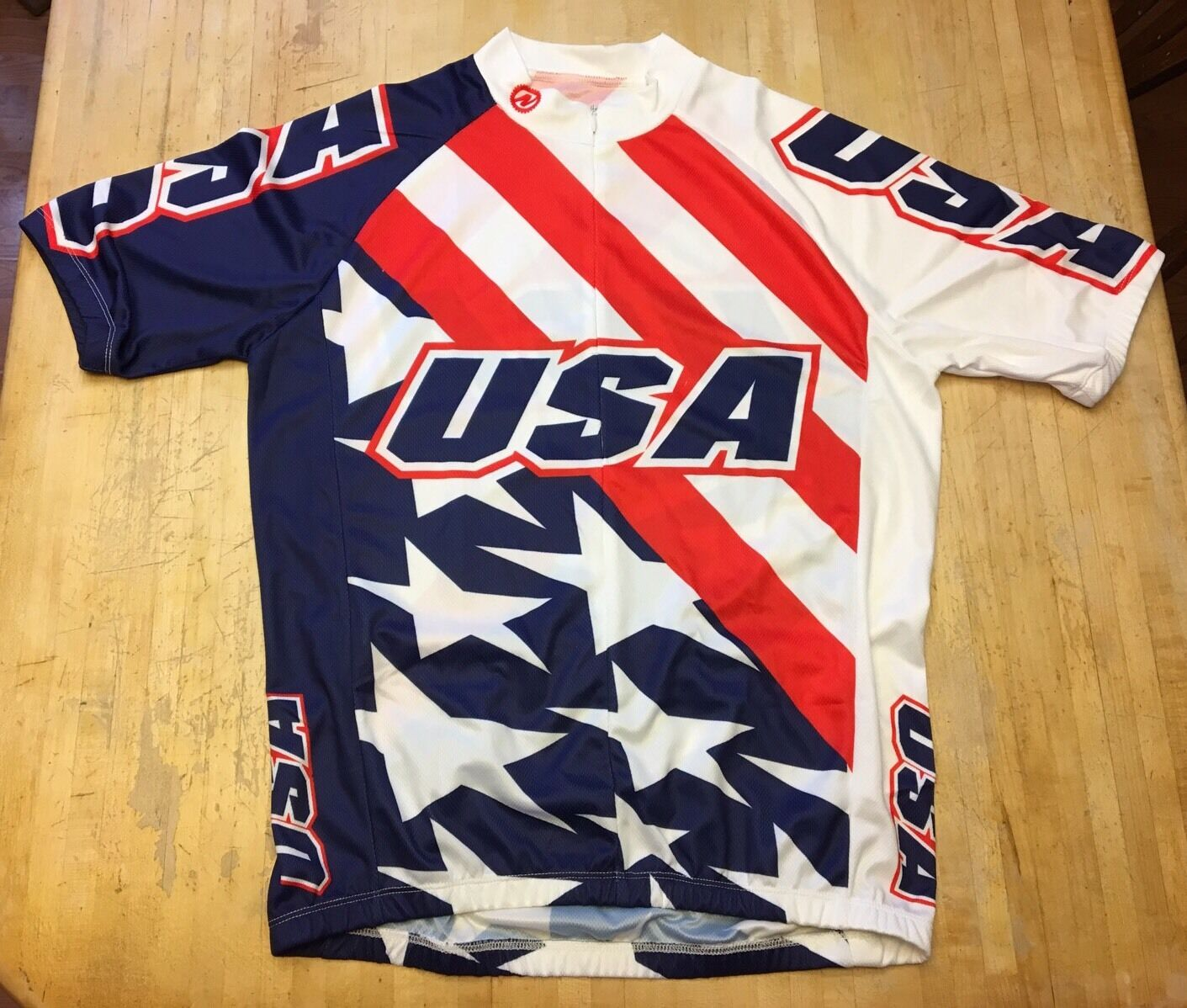 Herren Nashbar USA USA Nashbar Patriotic Themed Short Sleeve Cycling Jersey Large 0121e4
