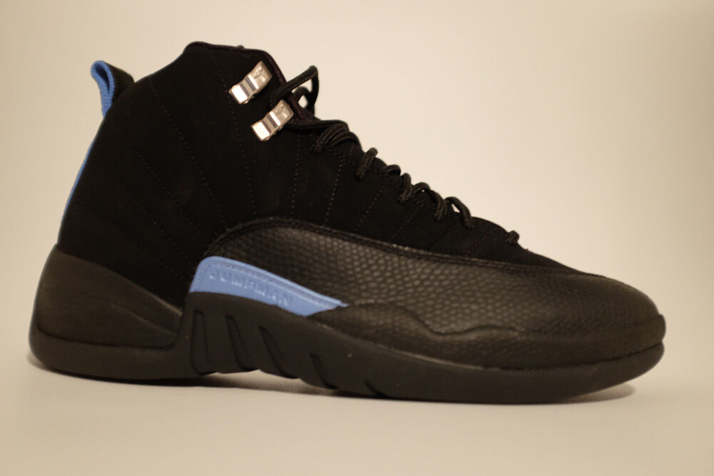 Air Jordan XII 12 Retro Black White-University bluee US Size 9 Hoodie and Hat