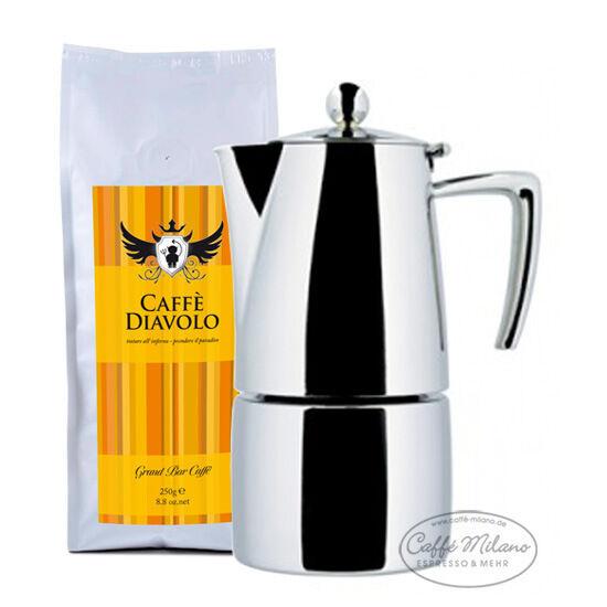 Ilsa slancio herdkocher Espresso réchaud 10 tasses poli avec 250g Espresso