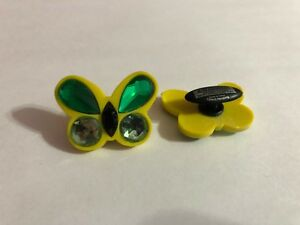 Large-Yellow-amp-Green-Butterfly-Shoe-Doodle-Butterfly-Shoe-Charm-for-Crocs-PSC563