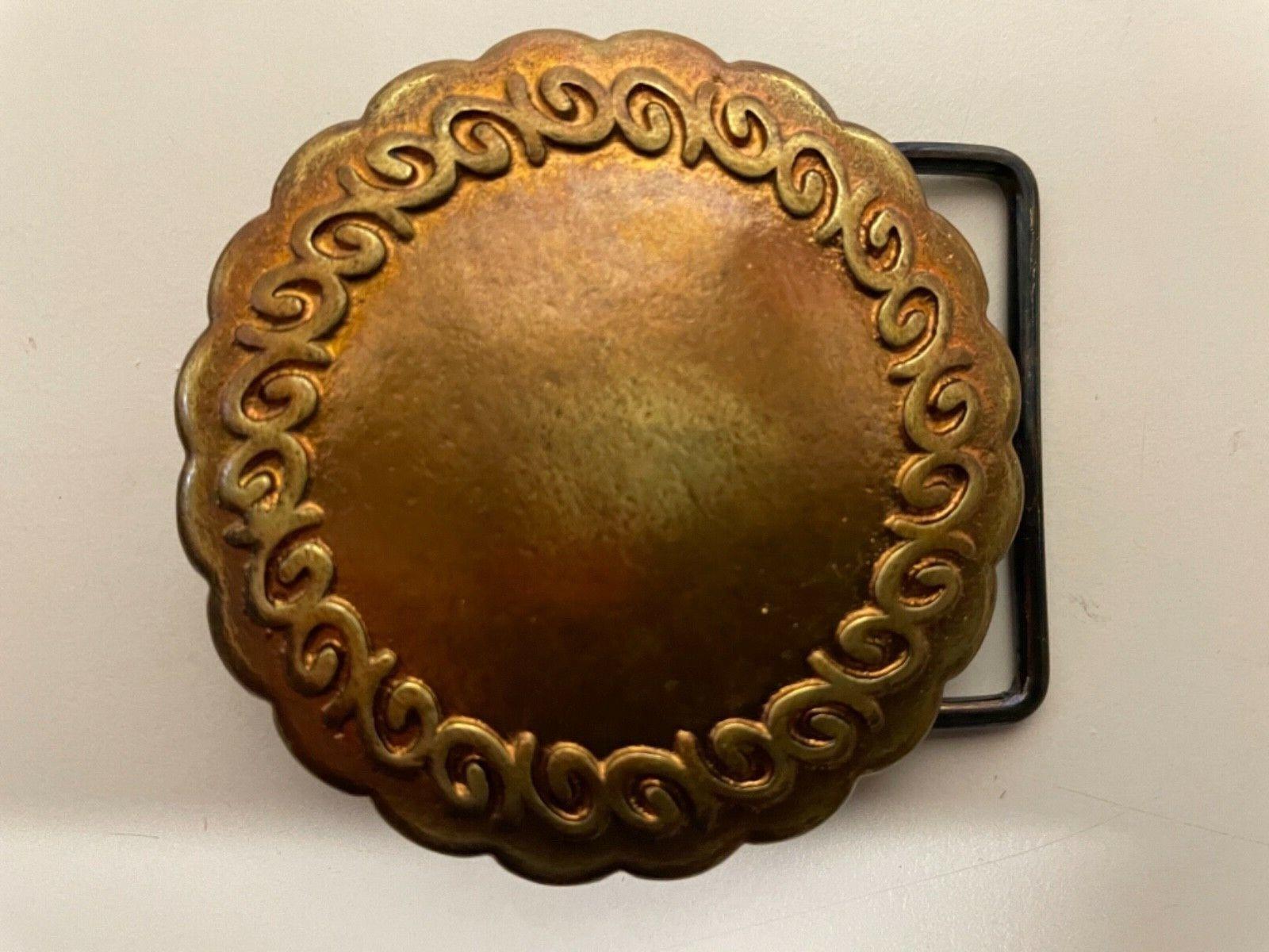 Vintage,Tribal,Ethnic,Viking,Celtic,Medieval belt buckle .2-Tone brass plaiting.