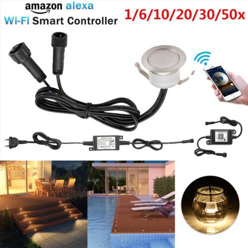 WIFI Controller LED Bodeneinbaustrahler Außenleuchte Wegbeleuchtung Bodenleuchte