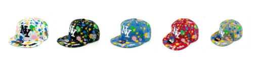ADULT BOYS GIRLS NEW YORK SPLASH DESIGN NY HIP HOP SNAPBACK BASEBALL CAP