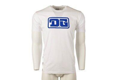 DG Retro Logo,White Authentic DG MX T Shirt Size: Xtra Large