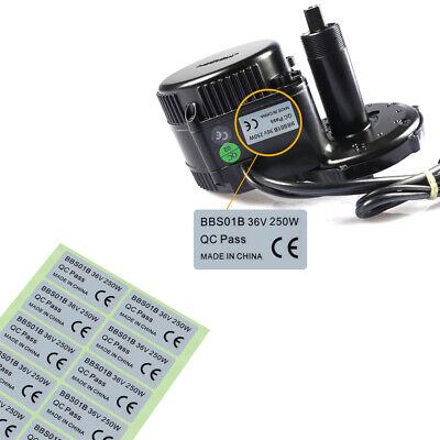 2*BBS01B Motor Sticker 36V 250W CE Label For Bafang Mid Drive Motor E-Bike EW