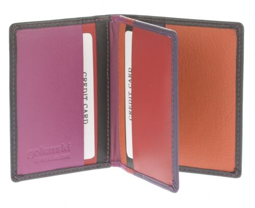 Graffiti//Golunski Leather Bank//Credit card Holder Florence Range Style 6008 Mult