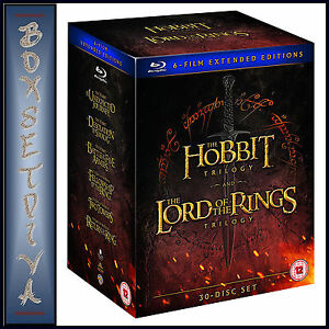 Details about THE HOBBIT TRILOGY & LORD OF THE RINGS TRILOGY - 6 FILM  EXTENDED *BLURAY**