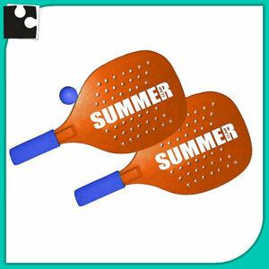Beach Tennis Couple Rackets Mens Beach Of Wood beach Tennis Racket + 1 Ball  | eBay