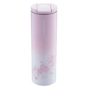 Starbucks 2019 China Black Sakura Stainless Tumbler Water Bottle 16oz