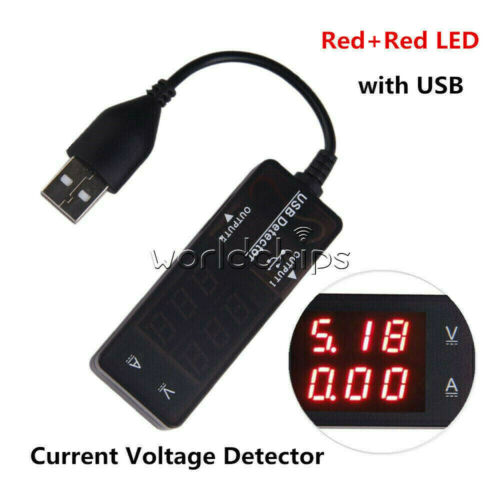 Red Blue Dual LED USB Charger Doctor Voltage Current Meter Tester Power Detector