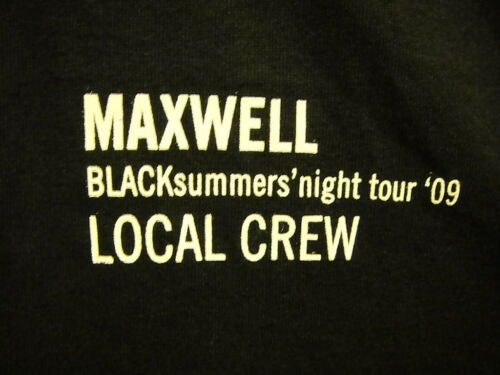 MAXWELL ~ RARE LOCAL CREW ONLY ~ BLACKsummer's NIGHT TOUR 2009 ~