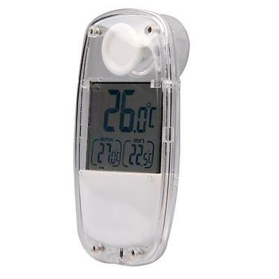 Solar Digital LCD Suction Window Greenhouse Thermometer