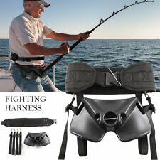 Boat Fishing Rod Holder Fighting Belt w Shoulder Back Harness Package Z5M2