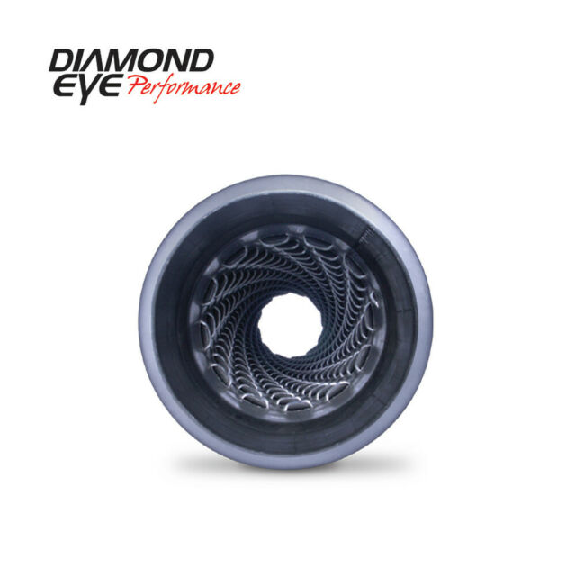 "Diamond Eye 400400 4/"" Quiet Tone Resonator Single In//Out Aluminized w//out Ends"