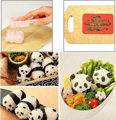Kitchen Gadgets Panda Shape DIY Sushi Mould Bento Rice Ball Onigiri Mold New avi