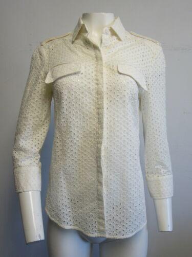 ALEXANDER MCQUEEN white eyelet blouse sz 44