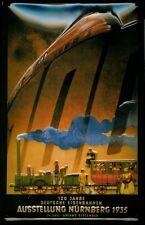 100 J. Eisenbahn 1935 Blechschild Metal Tin Sign 3D geprägt gewölbt 20 x 30 cm
