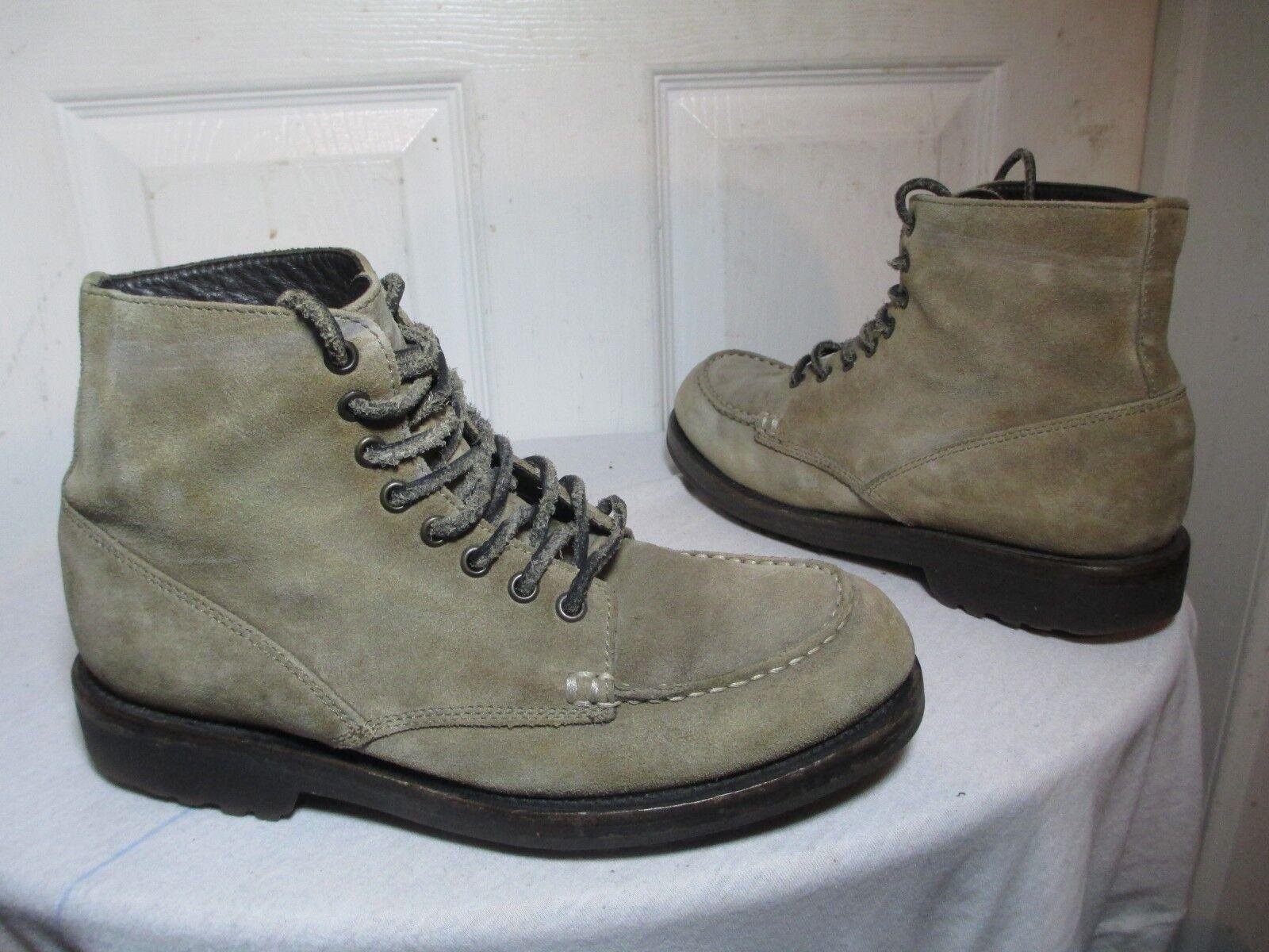 BUTERO B3802 para hombre gris Gamuza Moc Toe Con Cordones Trabajo botas 42 US 9 Made in