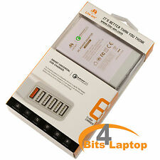 60W 6Port USB charger with QC2.0 Fast Charger For Smart Phones iPads & Tablets