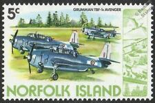 GRUMMAN TBF-1c AVENGER Aircraft Mint Stamp (1980 Norfolk Island)