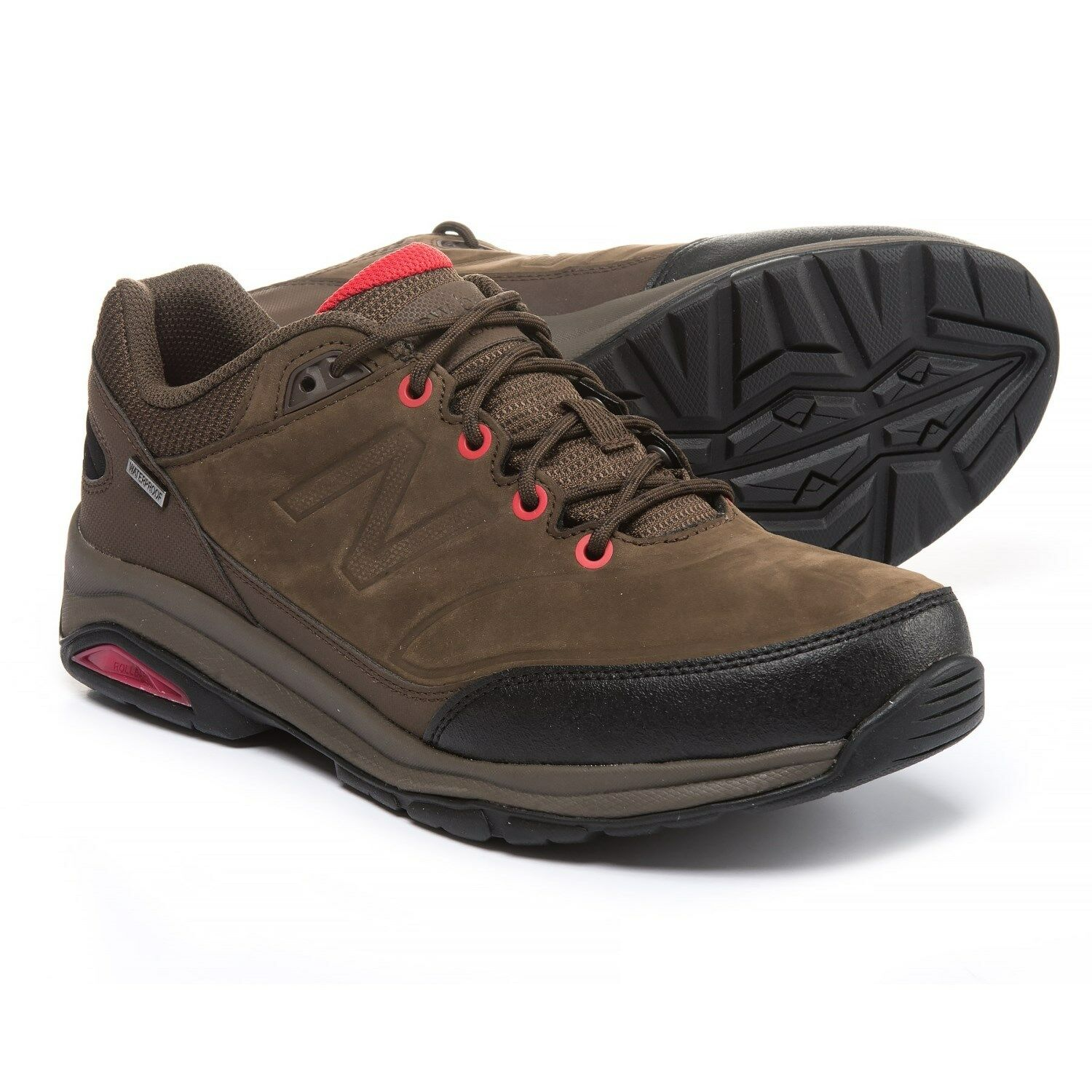 New Men`s New Balance 1300 Nubuck Waterproof Walking shoes MW1300BR MSRP 135