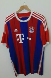 Adidas-Men-S-FC-Bayern-Munich-Soccer-Jersey-Striped-Blue-Red-Authentic-Football