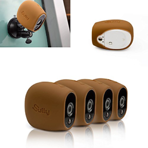 Silicone Skins for Arlo HD 4 PCs brown for Arlo HD Wireless Free Camera Case