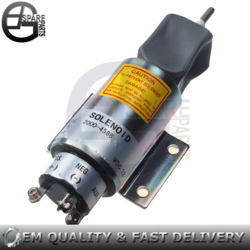 New Fuel Shut Off Stop Solenoid Valve 2001-12E2U1B1S1A 12 Volt for Woodward
