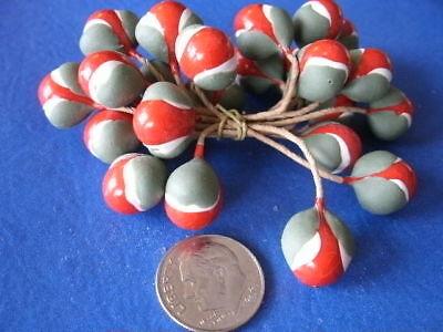 Vintage Millinery Blume Staubblatt Ec11 L Rot Grün