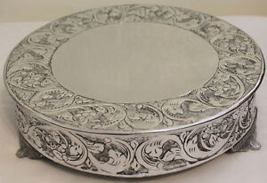 16 inch round wedding cake stands grand wedding silver cake stand plateau 16 inch ebay 10057