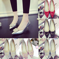 WOMENS LADIES LOW MID KITTEN HEEL POINTED TOE PUMPS COURT WORK OFFICE SHOES SIZE