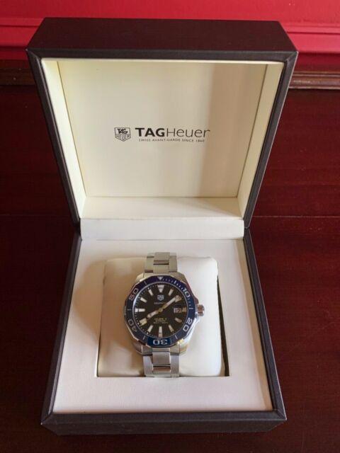 TAG HEUER Aqua Racer Blue Dial Caliber 5 WAY201B.BA0927 - Mint Condition!