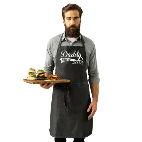 2018 Daddy Since Details about  /Funny Novelty Apron Kitchen Cooking