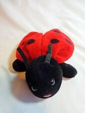 "Ladybug Plush 6"" Creations Red Black Wings Bean Bag 1996"