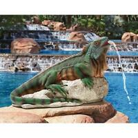 Reptile Water Spitter Lizard Piped Statue Pool Fountain Yard Home Garden Decor