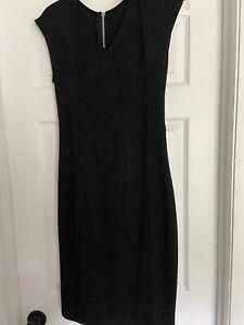 Black-Pencil-Dress-Zipper-In-The-Back-Small