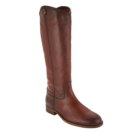 Frye Leather Tall Shaft Pull-on Pull-on Pull-on Boots - Melissa Button2 Redwood Women's 5.5 6ce4f6