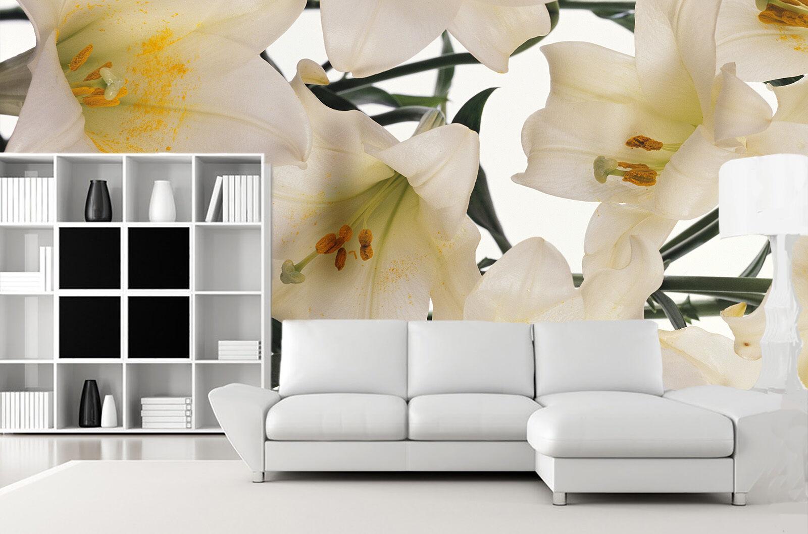 3D flower lily art 3136 Paper Wall Print Decal Wall Wall Murals AJ WALLPAPER GB