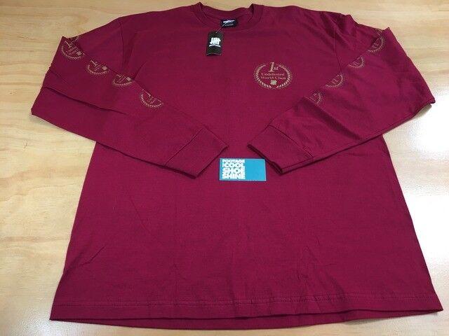 Undefeated UNDFTD World Class Seal Long Sleeve Tee Shirt Dark Red Burgundy Sz XL