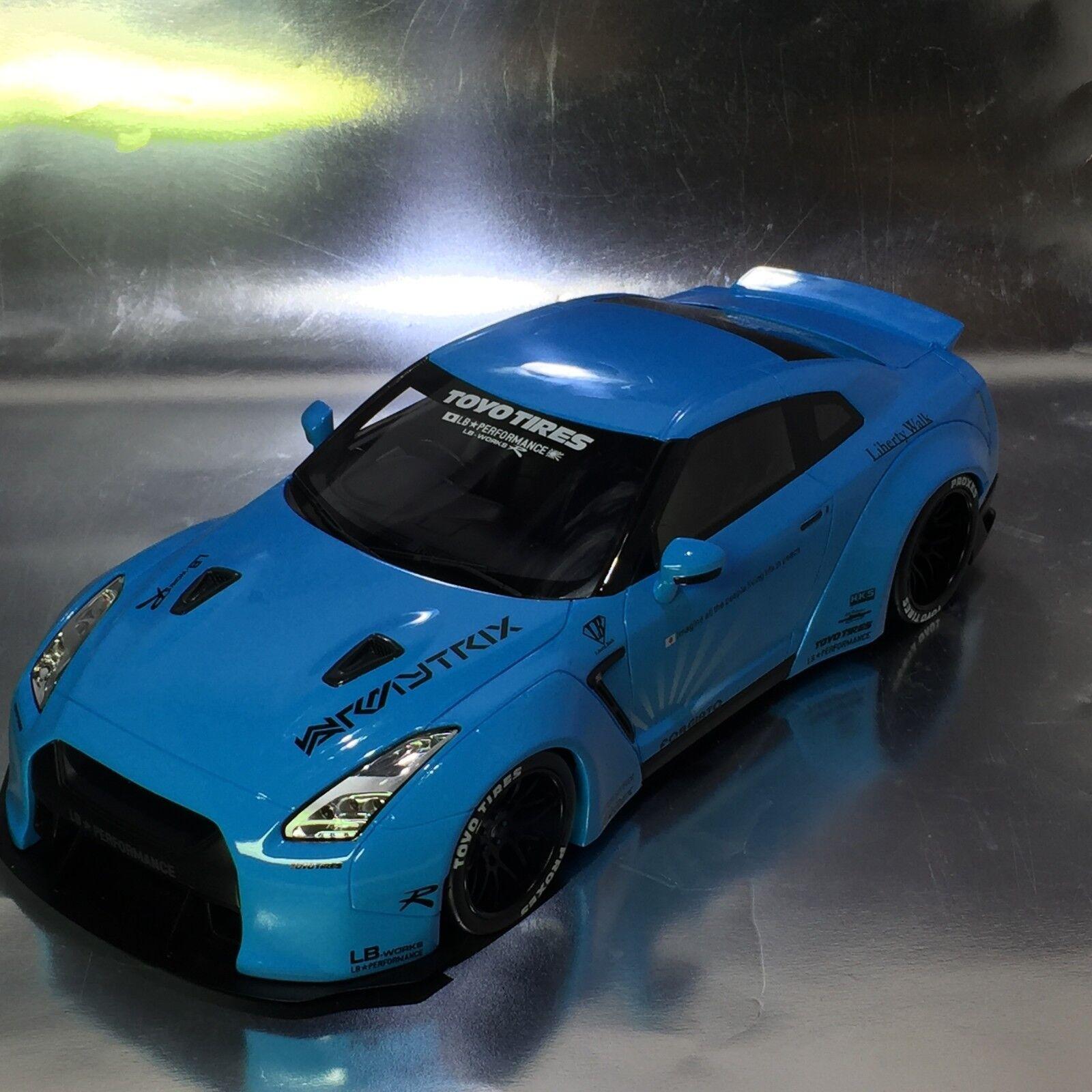 GT Spirit KJ008 Nissan Skyline GTR R35 lb funciona azul de bebé