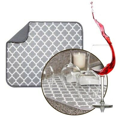 Microfibra Plato Secado Felpudo Fregadero Cocina Escurridor Paño Absorbente   6dec96a530cc