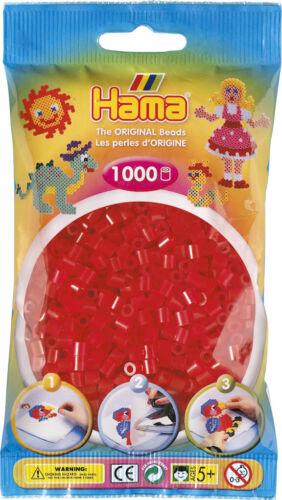Hama BÜgelperlen 1000 StÜck Transparent-rot 5 Mm Creativsets Perlen