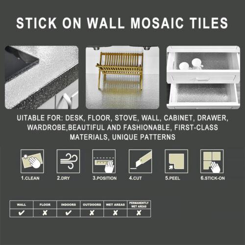Gold Waterproof Oil-proof Self Adhesive Aluminum Foil Wall Sticker Kitchen Decor