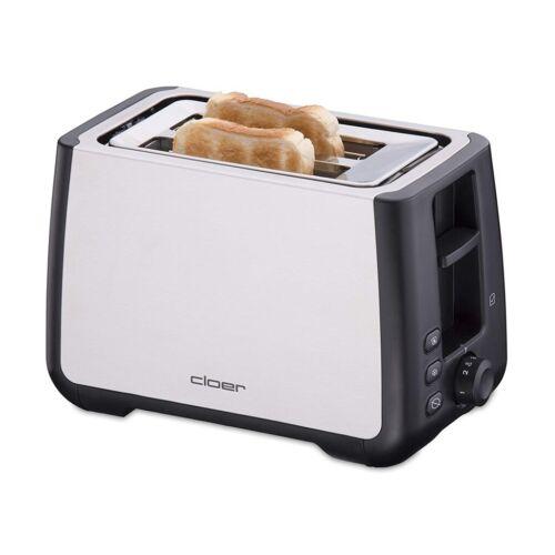 Cloer Toaster 3569 Doppelschlitztoaster edelstahl/schwarz