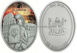 Gladiators! $10 Fiji Silver Proof Coin, only 999 made! Gladiator Provocator 2013 - <span itemprop='availableAtOrFrom'>space-coins-com, Deutschland</span> - Gladiators! $10 Fiji Silver Proof Coin, only 999 made! Gladiator Provocator 2013 - space-coins-com, Deutschland