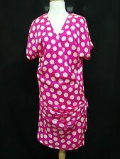 CHIC VINTAGE COUTURE UNGARO PARALLELE PINK SILK DRESS sz 8