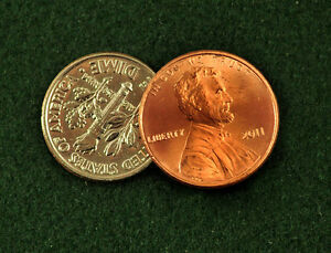 Scotch-amp-Soda-Magic-Trick-using-a-Dime-and-Penny-Made-From-Real-Coins