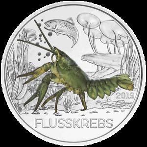 Osterreich-3-Euro-Der-Flusskrebs-12-Tier-Taler-Serie-2019-Handgehoben